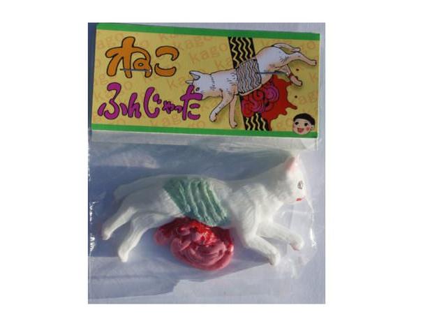 jouet chat ecrase